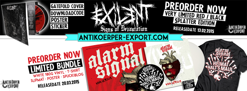 LIMITED PREORDER >ALARMSIGNAL >EXILENT