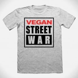 """""""Vegan Street War"""" sport grey T- Shirt"""