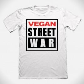 """""""Vegan Street War"""" white T- Shirt"""