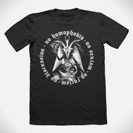 """""""No Homophobia"""" black T-Shirt"""