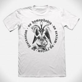 """No Homophobia"" white T-Shirt"