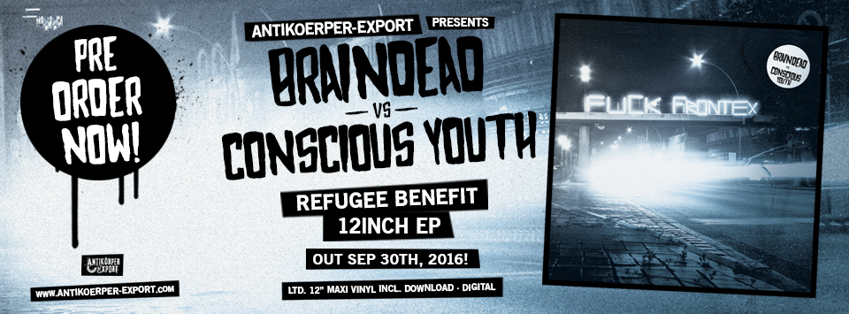 """BRAINDEAD vs CONSCIOUS YOUTH """"Refugee Benefit"""" 12inch"""
