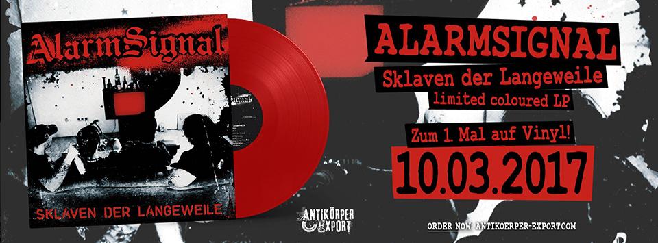 """ALARMSIGNAL """"Sklaven der Langeweile"""" LP"""